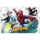 Marvel Spiderman themafeest tafelkleed/tafelzeil 120 x 180 cm - Kinderfeestje kunststof/plastic tafeldecoraties