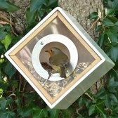 Vogelvoederhuisje - Wit - 16 cm x 16 cm x 16 cm