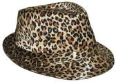 Trilby hoedje met luipaard print
