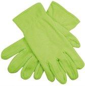 Limegroene fleece handschoenen M/l