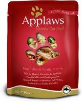 Applaws cat pouch tuna / pacific prawn kattenvoer 70 gr