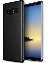 Samsung Galaxy Note 8 zwart siliconen hoesje - matte zwart