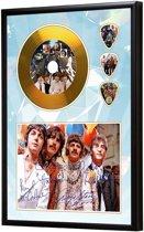 Golddiscdisplay met plectrums The Beatles ingelijst