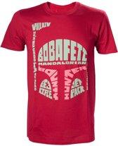 Star Wars - Boba Fett Word Play T-shirt - XL