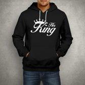 Her King Hoodie | Zwart | 3XLarge