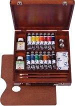 Van Gogh olieverf kist 14 tubes met accessoires - Inspiration