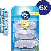 Ambi Pur Fresh Water & Mint Navulling - Voordeelverpakking 3x6 Stuks - Toiletblok
