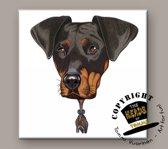 Tegel Hond Dobermann