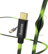Hama Chameleon Micro-USB naar USB Kabel - 1,5 Meter - Zwart-Groen