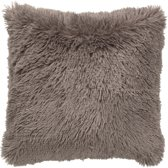 Dutch Decor Kussenhoes Fluffy 45x45 cm taupe