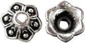 Beadcap (9 x 9 x 5 mm) 25 Stuks (Antiek Zilver)