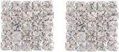 Oorstekers in vierkante vorm met steentjes
