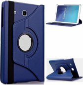 Samsung Galaxy Tab E 9.6 inch SM   T560 / T561 Tablet Case / cover met 360° draaistand cover hoes kleur Donker Blauw