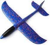 Zweefvliegtuig wegwerp blauw M| zweefvliegtuig speelgoed | foam vliegtuig