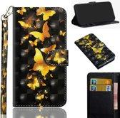 Goud zwart vlinder agenda book case hoesje Nokia 1 Plus