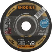 Rhodius XT10 doorslijpschijf 125 x 1,0 mm