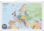 Staaten Europas. Wandkarte mit Metallleiste
