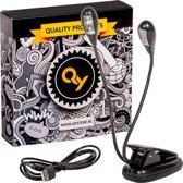 QY Duo Book Light - Boekleeslamp - met klem - 4 heldere LED lampjes - voor muziekstandaard, lessenaar, boek enz.