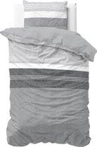 Sleeptime Rolf Grey - Dekbedovertrek - Eenpersoons - 140x200/220 + 1 kussensloop 60x70 - Grijs