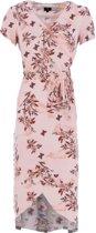 K Design  jurk zomerjurk N883 P664 Zalm roze
