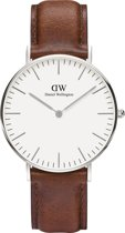 Daniel Wellington Classic St. Mawes DW00100052 - Horloge - Leer - Bruin - Ø 36mm