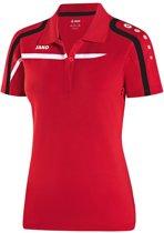 Jako Polo Performance - Sportpolo -  Dames - Maat 42 - 44 - Rood;Zwart;Wit