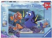 Ravensburger Disney Finding Dory Dory onderweg in de zee Twee puzzels van 12 stukjes