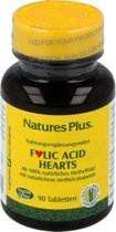 Folic Acid Hearts, Foliumzuur, 90 tabletten, Nature's Plus
