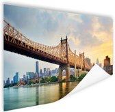 Queensboro Bridge New York Poster 150x75 cm - Foto print op Poster (wanddecoratie woonkamer / slaapkamer) / Steden Poster