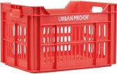 Urban Proof Fietskrat 30L roze/rood