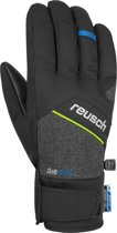 Reusch Luke R-TEX® XT Unisex Skihandschoenen - Black Melange/Safety Yellow/Brilliant Blue  - 8