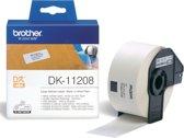Label etiket brother dk-11208 38 mm x 90 mm adres wit