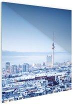 Berlijn winter stadslandschap Glas 40x60 cm - Foto print op Glas (Plexiglas wanddecoratie)