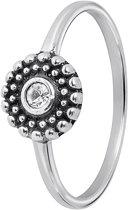 Lucardi - Zilveren ring rond Bali met kristal