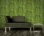 Dutch Wallcoverings Schuimvinylbehang - bamboe