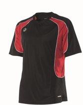 Joris Sport T-shirt Soccer korte mouw JST9002 blackred XL