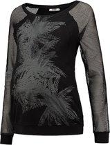 LOVE2WAIT Sweater Nursing Mesh - Zwart - XS