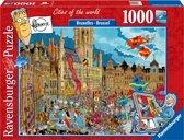 Ravensburger puzzel Fleroux Brussel - legpuzzel - 1000 stukjes