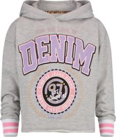 Vingino Meisjes Sweatshirt - Light Grey Melee - Maat 116