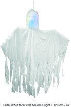 Skelet hangdeco 120 cm met licht - geluid en beweging Halloween