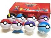 Afbeelding van Poke Ballen / Speelgoed Figuurtjes Set Poke Bal - 8 Stuks - In Poke Doos - Met Display