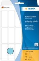 HERMA Vielzwecketiketten blauw 20x50 mm Papier mat 480 St.