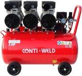 Conti-Weld LBWS compressor 50 liter 6 cilinder geluidsarm olievrij