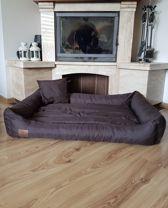 XXL Hondenbed van bruin kunstleer - hondenkussen hondensofa kattenbed hondenkorf - waterdicht