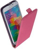 Samsung Galaxy S6 Leder Flip Case Roze