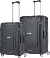 CarryOn Steward Kofferset - 2 delige TSA Trolleyset - Koffers met vaste kliksloten - Zwart