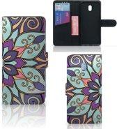 Xiaomi Redmi 8A Hoesje Purple Flower