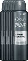 Dove silver control Men + Care  - 150 ml - deodorant spray - 6 st - Voordeelverpakking