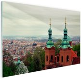 Uitzicht over Praag Glas 30x20 cm - klein - Foto print op Glas (Plexiglas wanddecoratie)