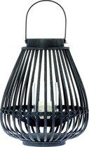 Windlicht Urban zwart 39cm
